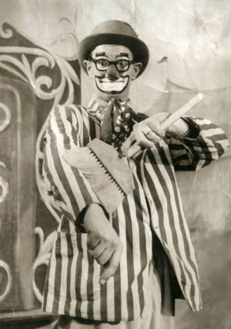 "How well I remember going with Dad to Channel 8 ion New Haven when he did is Flippy The Clown show. It was a big treat for me, only 5 years old. I remember vividly when he was taking off his makeup, and his face looked all greasy and pale, I asked him? ""Daddy, are you going to do another show now?"" He laughed."