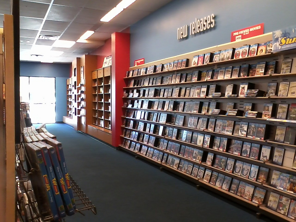 BLOCKBUSTER VIDEO STORE AISLE