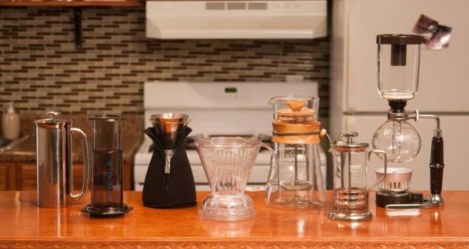 MANY COFFEE MAKERS