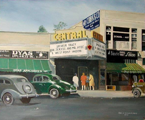 CENTRAL THEATER, 1940 Painted by Dr. John M. Fitzsimmons
