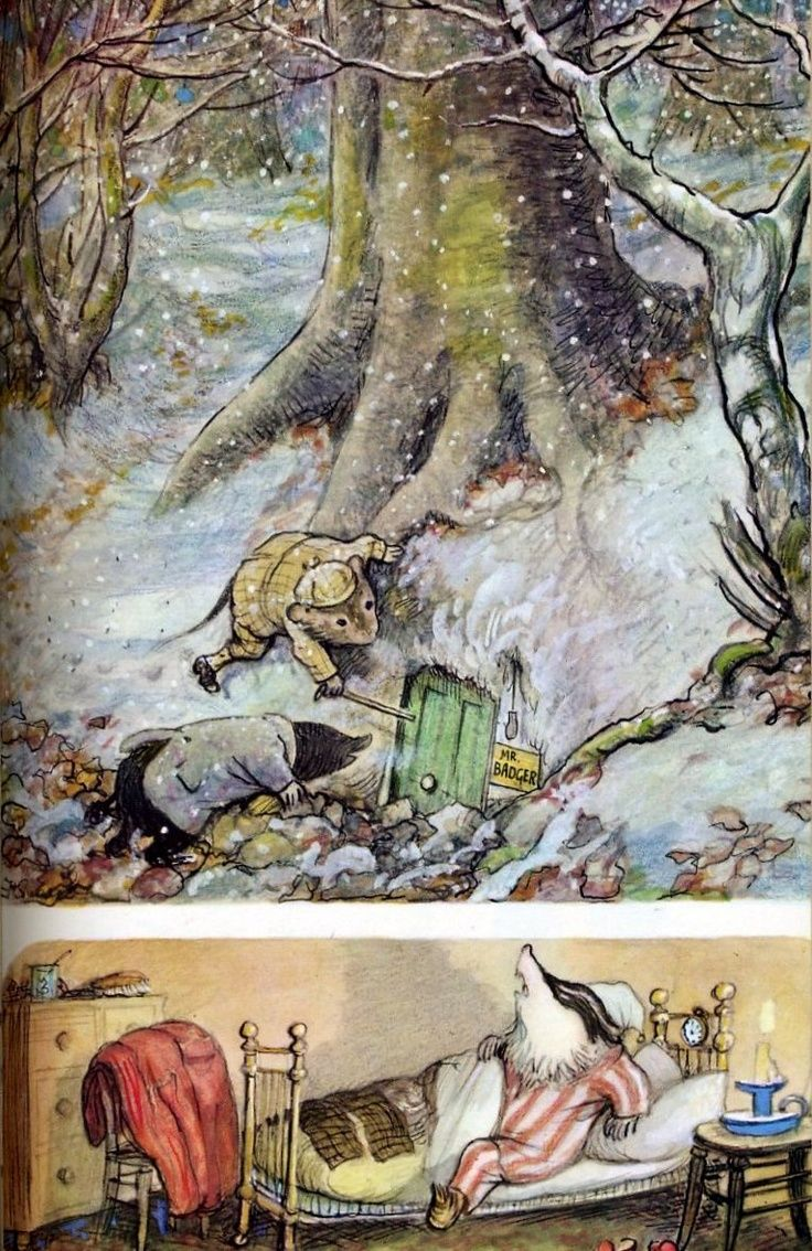 E.H. Shepherd Illustration for the WInd In The Willows