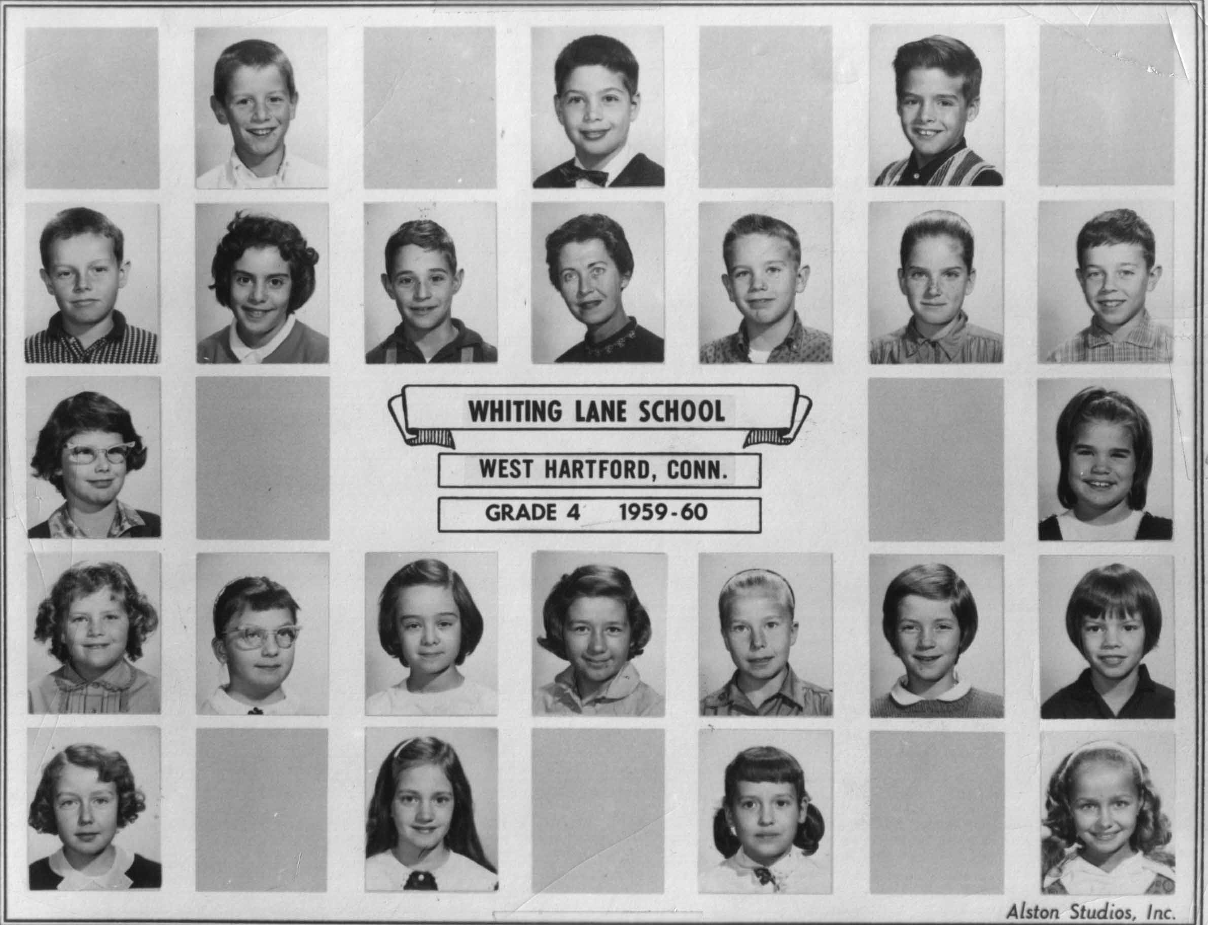 Whiting Lane, West Hartford, CT Grade 4 1959 - 1960
